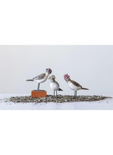 Warm Design Kuş Dekoratif Obje Renkli